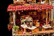 Roma 22 Novembre 2012.Inaugurata l'esposizione intermazionale 100 Presepi.Il presepe in stile napoletano in legno, sughero, polistirolo e gesso di Luciana Ammendolia, (Lazio).Rome November 22 st 2012  .Inaugurated the exhibition intermazionale 100 Nativity Scenes.The crib Neapolitan-style, wood, cork, polystyrene and plaster of Luciana Ammendolia (Lazio).