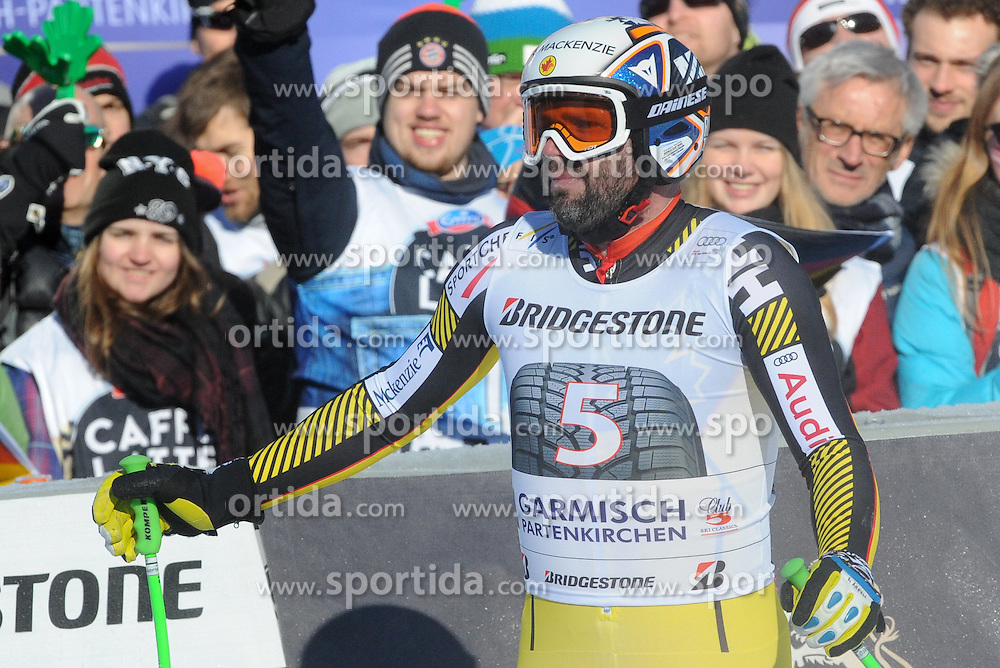 30.01.2016, Kandahar, Garmisch Partenkirchen, GER, FIS Weltcup Ski Alpin, Garmisch Partenkirchen, Abfahrt, Herren, im Bild Manuel Osborne-Paradis (CAN) // Manuel Osborne-Paradis of Canada reacts after his run of the men's Downhill of Garmisch FIS Ski Alpine World Cup at the Kandahar in Garmisch Partenkirchen, Germany on 2016/01/30. EXPA Pictures © 2016, PhotoCredit: EXPA/ Erich Spiess