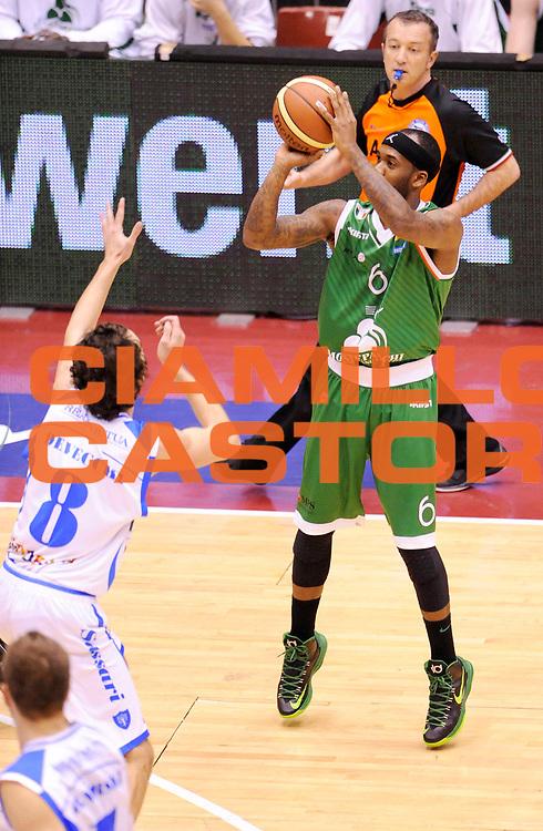 DESCRIZIONE : Milano Coppa Italia Final Eight 2013 Semifinale Banco di Sardegna Sassari Montepaschi Siena<br /> GIOCATORE : Bobby Brown<br /> CATEGORIA : tiro<br /> SQUADRA : Montepaschi Siena<br /> EVENTO : Beko Coppa Italia Final Eight 2013<br /> GARA : Banco di Sardegna Sassari Montepaschi Siena<br /> DATA : 09/02/2013<br /> SPORT : Pallacanestro<br /> AUTORE : Agenzia Ciamillo-Castoria/A.Giberti<br /> Galleria : Lega Basket Final Eight Coppa Italia 2013<br /> Fotonotizia : Milano Coppa Italia Final Eight 2013 Semifinale Banco di Sardegna Sassari Montepaschi Siena<br /> Predefinita :