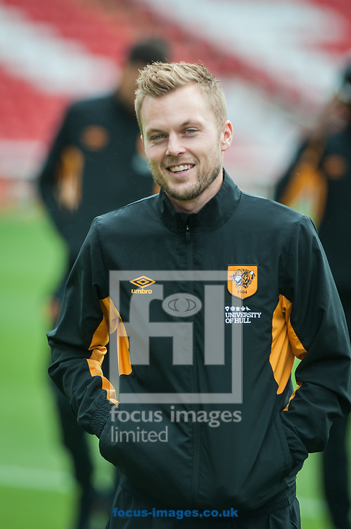 Sebastian Larsson of Hull City prior to the Sky Bet Championship match at Oakwell, Barnsley<br /> Picture by Matt Wilkinson/Focus Images Ltd 07814 960751<br /> 21/10/2017