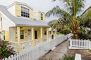 Quaint cottage in the tiny village of Hope Town, Elbow Cay Abacos, Bahamas.