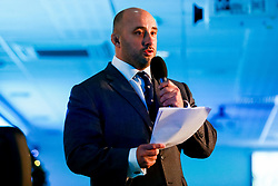 David Flatman talks during the annual Exeter Chiefs Foundation Christmas Dinner at Sandy Park - Ryan Hiscott/JMP - 07/12/2018 - RUGBY - Sandy Park - Exeter, England - Exeter Chiefs Foundation Christmas Dinner with David Flatman