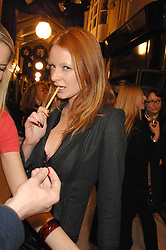 OLIVIA INGE at a party to celebrate the opening of the new Beatrix Ong store in Burlington Arcade, Piccadilly, London on 14th November 2007.<br />