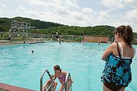 Swimmers enjoying cooling off in the water at the Kiwanis Pool in St. Johnsbury Vermont.  Karen Bobotas / for Kiwanis International