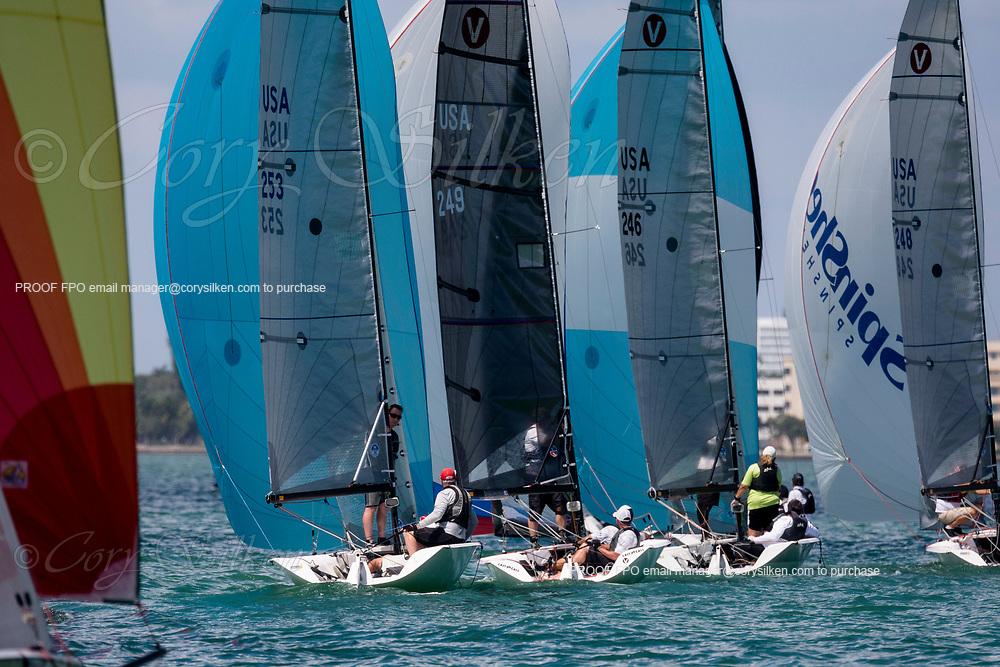 253 Viper 640 Class sailing at Bacardi Miami Sailing Week.