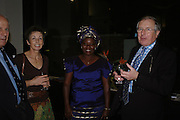 Carrie Wilkie, Winnie Mccru and Ronnie Wilkie. Cocktail party celebrating Born Free Foundation 21 years anniversary.  Royal Geographical Society, Kensington Gore. 14 march 2005. ONE TIME USE ONLY - DO NOT ARCHIVE  © Copyright Photograph by Dafydd Jones 66 Stockwell Park Rd. London SW9 0DA Tel 020 7733 0108 www.dafjones.com