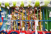HAAREN Carnavals optocht CV We zèn er wir, mee carnaval zetten wij onze boefjes op het juiste spoor