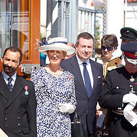 HRH Queen Elizabeth II visits Cowes, Isle of Wight, England. 25th July 2012.