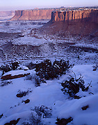 Sunrise, Sunset, Rock Formations, Snow, Winter, Canyonlands, Canyonlands National Park, Utah