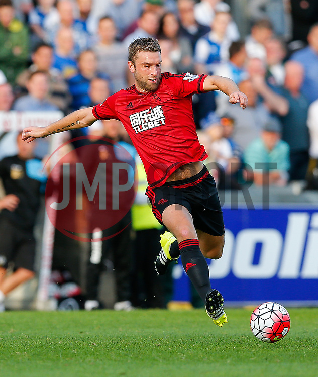 Rickie Lambert of West Brom scores a goal against his former club and after only today completing his transfer from Liverpool - Mandatory byline: Rogan Thomson/JMP - 07966 386802 - 31/07/2015 - FOOTBALL - Memorial Stadium - Bristol, England - Bristol Rovers v West Bromwich Albion - Phil Kite Testimonial Match.