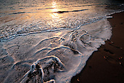 Beach sunset at Isla Paridas. Chiriqui Gulf, Chiriqui province, Panama, Central America.