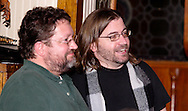 "Jerry Francis (right) during Mayhem & Mystery's production of ""Tragedy in the Theater"" at the Spaghetti Warehouse in downtown Dayton, Monday, February 28, 2011."