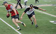 Super Bowl 51 - 16th Annual Celebrity Flag Football Challenge, Rhodes Stadium,  4 Feb 2017, Katy TX.   Red Team Captain Kirk Cousins would lose for the 2nd straight year to Doug Flutie's Blue team by a final score of 40-35.