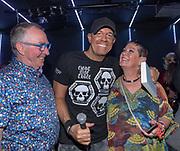 Club Air, Amsterdam. Boekpresentatie van de autobiografie van DJ Jean getiteld Gekkenhuis. Op de foto: DJ Jean en zijn ouders