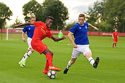 KIRKBY, ENGLAND - Saturday, September 24, 2016: Liverpool's Rafael Camacho in action against Everton during the Under-18 FA Premier League match at the Kirkby Academy. (Pic by David Rawcliffe/Propaganda)