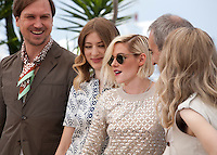 Lars Eidinger, Sigrid Bouaziz, Kristen Stewart, Olivier Assayas and Nora von Waldstatten at the Personal Shopper film photo call at the 69th Cannes Film Festival Tuesday 17th May 2016, Cannes, France. Photography: Doreen Kennedy