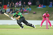 Stags Will Young batting during the Burger King Super Smash Twenty20 cricket match Knights v Stags played at Bay Oval, Mount Maunganui, New Zealand on Wednesday 27 December 2017.<br /> <br /> Copyright photo: © Bruce Lim / www.photosport.nz