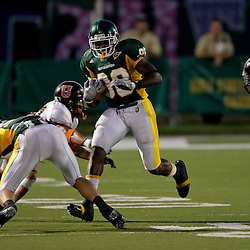 10 September 2009:  Southeastern Louisiana Lions wide receiver Simmie Yarborough (88) runs after a catch during a game between Southeastern Louisiana University Lions and Union College at Strawberry Stadium in Hammond, Louisiana.