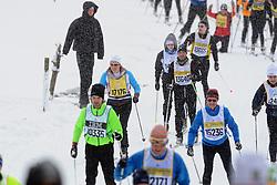 06-03-2016 SWE: Vasaloppet Challenge BvdGF day 7, Sälen<br /> Vandaag een rustig dagje, 90 km langlaufen van Sälen naar Mora in bizarre omstandigheden / Ilja, Bas