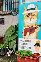 Taïwan, district de New Taipei, Houtong village, Village des chats // Taiwan, New Taipei county, Houtong Cat Village