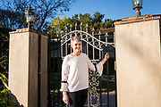 Merrill Sutherland poses for a portrait for Good Samaritan Hospital's Oncology & Radiology Annual Report at a private residence in Los Gatos, California, on December 5, 2017. (Stan Olszewski/SOSKIphoto)