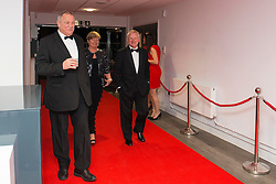 Bristol Rugby chairman Chris Booy and majority shareholder of Bristol Rugby, Bristol Flyers, and Bristol City Steve Lansdown with Margaret Lansdown attend the Bristol Sport's Annual Gala Dinner at Ashton Gate Stadium - Mandatory byline: Dougie Allward/JMP - 08/12/2015 - Sport - Ashton Gate - Bristol, England - Bristol Sport Gala