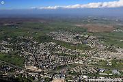 aerial photograph of Bingley Bradford Yorkshire  England UK