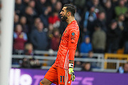 Rui Patricio of Wolverhampton Wanderers celebrates the second goal of the game during the Premier League match between Wolverhampton Wanderers and Aston Villa at Molineux, Wolverhampton, England on 10 November 2019.