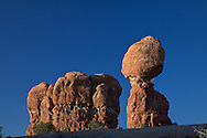 Balanced Rock, Arches National Park, Blue Sky, Moab, Utah