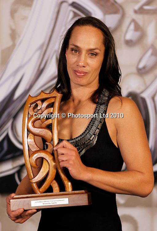 Daniella Smith, world champion boxer. Trillian Trust 20th Maori Sports Awards, Telstra Clear Events Centre, Manukau, Auckland, Saturday 4 December 2010. Photo: Simon Watts/photosport.co.nz