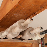 Rolling pins at Cynthia Curtis Pottery, Rockport, MA