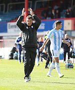 St Johnstone boss Tommy Wright applauds the visiting support at the end  - Dundee v St Johnstone, SPFL Premiership at Dens Park <br /> <br />  - &copy; David Young - www.davidyoungphoto.co.uk - email: davidyoungphoto@gmail.com