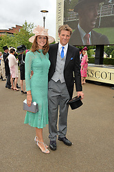 JAMES CRACKNELL and BEVERLEY TURNER at day one of the Royal Ascot 2016 Racing Festival at Ascot Racecourse, Berkshire on 14th June 2016.