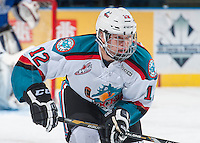 KELOWNA, CANADA - SEPTEMBER 3: Ted Brennan #12 of Kelowna Rockets skates against the Victoria Royals on September 3, 2016 at Prospera Place in Kelowna, British Columbia, Canada.  (Photo by Marissa Baecker/Shoot the Breeze)  *** Local Caption *** Ted Brennan;