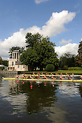 Henley, GREAT BRITAIN, GV of the Temple Island and the regatta course, Temple Challenge Cup,  Bucks Station, Williams College USA vs berks station, Harvard University, USA, 2008 Henley Royal Regatta, on  Friday, 04/07/2008,  Henley on Thames. ENGLAND. [Mandatory Credit:  Peter SPURRIER / Intersport Images] Rowing Courses, Henley Reach, Henley, ENGLAND . HRR