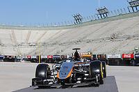 Sahara Force India F1 Team new team livery.<br /> Autodromo Hermanos Rodriguez Circuit Visit, Mexico City, Mexico. Thursday 22nd January 2015.