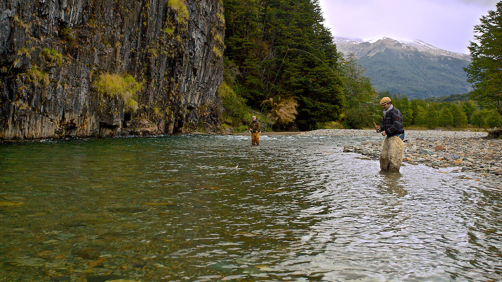Only in Patagonia do you have the chance to call a gaucho your fishing buddy. The Wall Pool no the Rio Paloma, accessible only on foot or horseback.