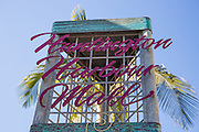 Huntington Harbour mall in Huntington Beach California Sign