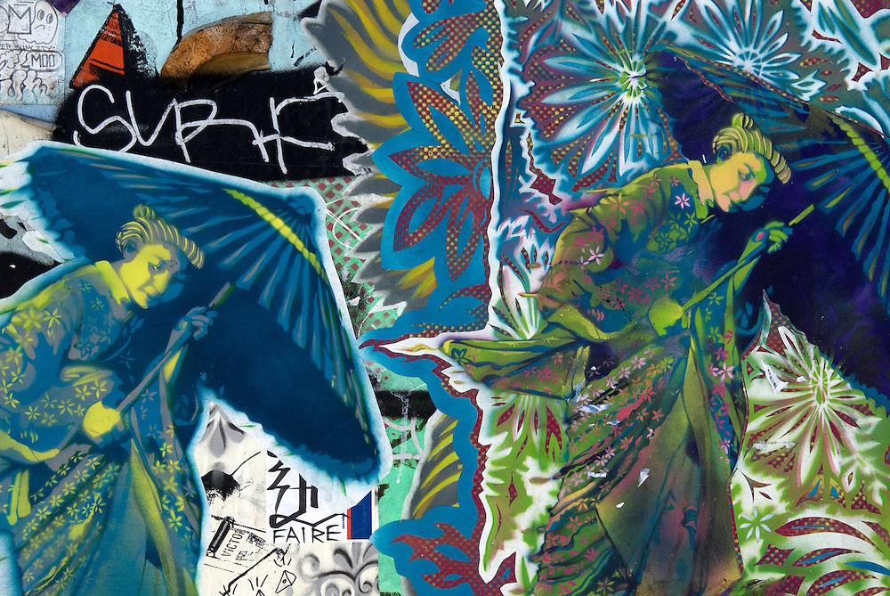 USA, California, San Francisco. July/26/2008...Street art graffiti from San Francisco.