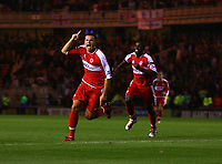 Photo: Andrew Unwin.<br /> Middlesbrough v Chelsea. The Barclays Premiership. 23/08/2006.<br /> Middlesbrough's Mark Viduka celebrates his goal.