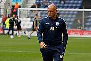 Alex Neil Manager of Preston North End watching his team warm up during the EFL Sky Bet Championship match between Preston North End and Millwall at Deepdale, Preston, England on 23 September 2017. Photo by Paul Thompson.