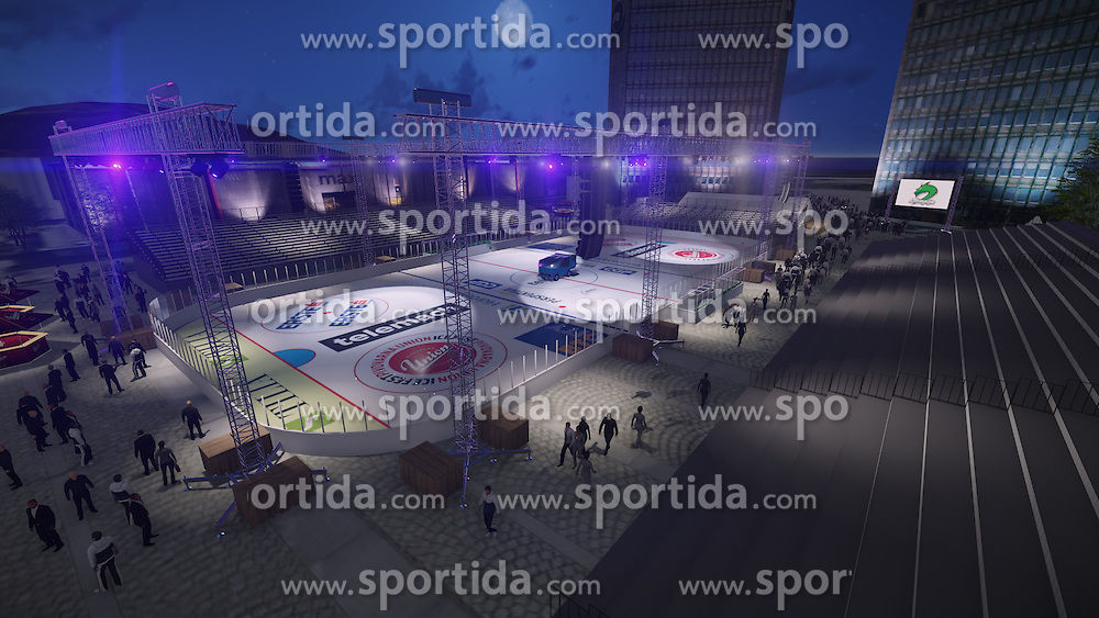 promo material for HDD Telemach Olimpija before winter classic event Icefest 2014 in Hala Tivoli, Ljubljana, on 2nd December 2014. Photo pool by Prozvok / 3DKozin.