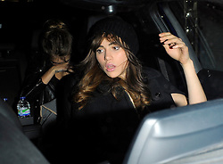 Models Cara Delevingne and Suki Waterhouse leaving the Arts Club to carry on the night out at G-A-Y for the Jessie J gig in London, UK. 27/09/2014<br />