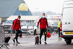 Daniel Bentley and Tommy Rowe of Bristol City arrive during a friendly match before the Premier League and Championship resume after the Covid-19 mid-season disruption - Rogan/JMP - 12/06/2020 - FOOTBALL - St Mary's Stadium, England - Southampton v Bristol City - Friendly.