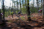 The 2009 Iceman Cometh point-to-point mountain bike race from Kalkaska to Traverse city Michigan drew over 4000 racers.
