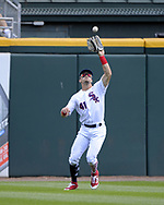 CHICAGO - JULY 01:  Adam Engel #41 of the Chicago White Sox fields against the Texas Rangers on July 1, 2017 at Guaranteed Rate Field in Chicago, Illinois.  The Rangers defeated the White Sox 10-4.  (Photo by Ron Vesely) Subject:   Adam Engel