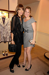 Left to right, ELLA MARQUIS and KENDALL COOK SEKULA at a party to celebrate the publication of Shop Your Closet - the ultimate guide to organisingyour closet with style by Melanie Charlton-Fascitelli held at Asprey, New Bond Street, London on 16th September 2008.