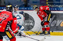 01.01.2018, Ice Rink, Znojmo, CZE, EBEL, HC Orli Znojmo vs Fehervar AV 19, 35. Runde, im Bild v.l. Michal Plutnar (HC Orli Znojmo) Zsombor Kiss (Fehervar AV19) Tomas Guman (HC Orli Znojmo) // during the Erste Bank Icehockey League 35th round match between HC Orli Znojmo and Fehervar AV 19 at the Ice Rink in Znojmo, Czech Republic on 2018/01/01. EXPA Pictures © 2018, PhotoCredit: EXPA/ Rostislav Pfeffer