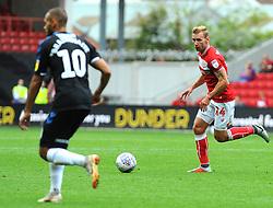 Andreas Weimann of Bristol City tries to get past Martin Braithwaite of Middlesbrough - Mandatory by-line: Nizaam Jones/JMP- 18/08/2018 - FOOTBALL - Ashton Gate Stadium - Bristol, England - Bristol City v Middlesbrough - Sky Bet Championship