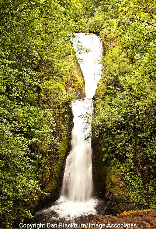 Multnomah Falls, Oregon, in full flow.